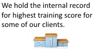 We hold a few internal records for highest training satisfaction with our clients